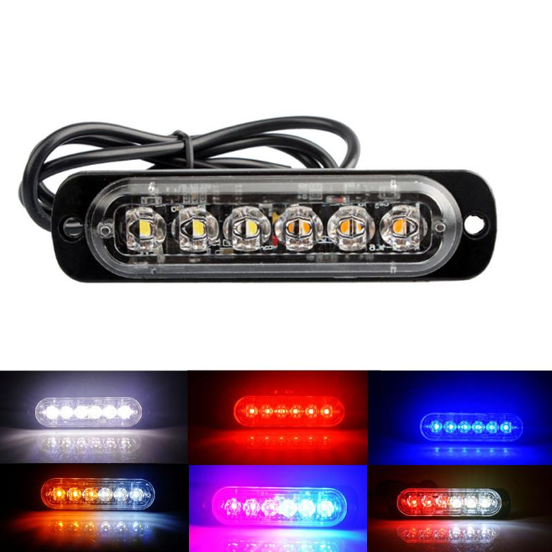 Flash Warning Light 6 LED Strobe Driving Fog Lamp Signal Light for Truck Car Motorcycle Boat Offroad Universal Car Accessories