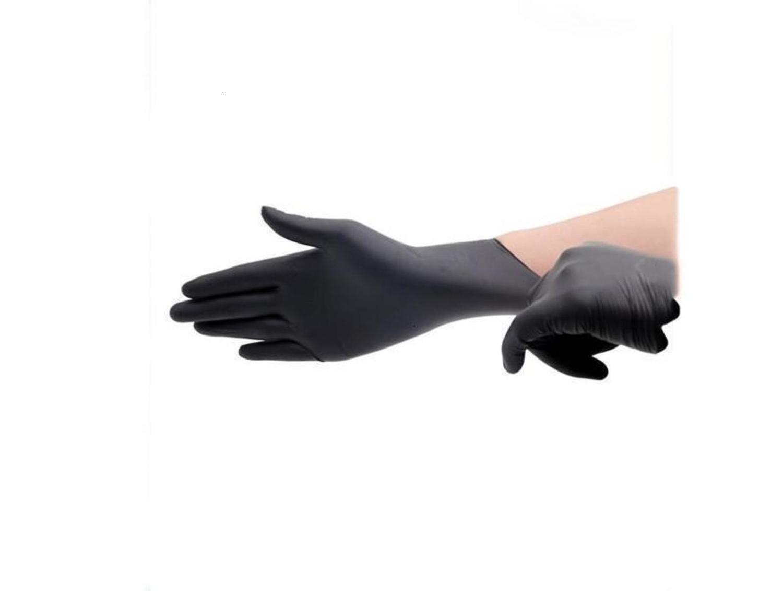 Guanto della bicicletta Stock HotLatex Nero gomma nitrile alimentari Laboratorio di pulizia di plastica spessa durevole Gloves1