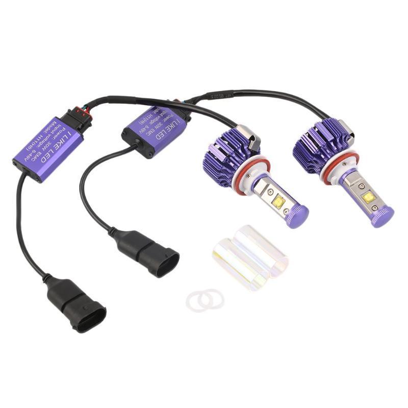 """2pcs LED фара комплект H11 (H8 H9) 60W 3000K LED Pro лампочки Set Low Voltage Protection Zero """"Разминка"""" Время"""