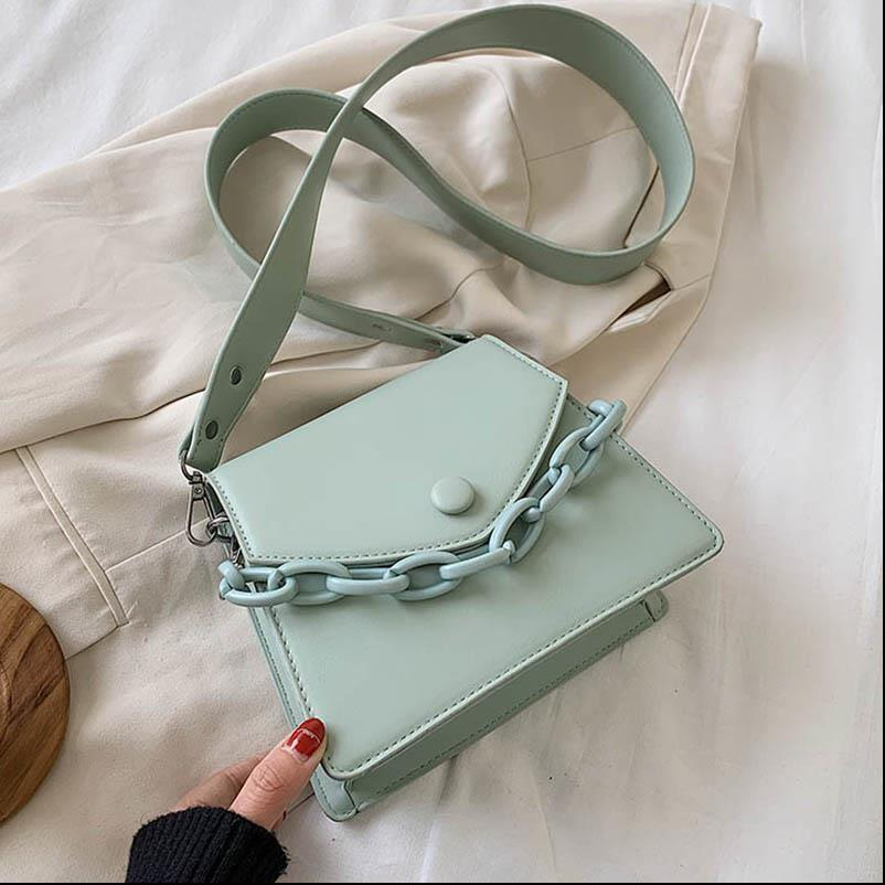 Thick Design Small PU Leather Crossbody Bags For Women 2020 Female Shoulder Simple Bag Ladies Handbags