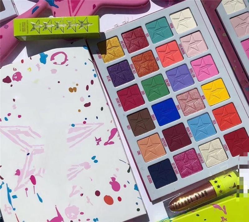 Jaw 24 Briseur couleurs EYESHADOW Five Star Maquillage des yeux Palette étoile fard à paupières naturelle longlasting cosmétiques Palette de haute qualité Livraison gratuite