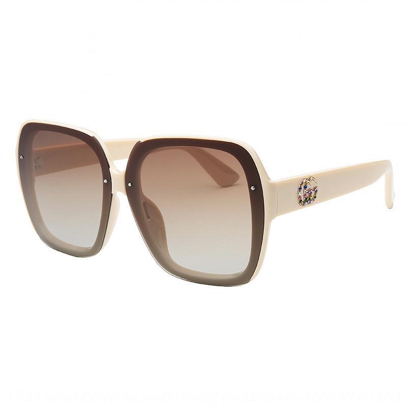 Ytfup 2020 moda Çift G orijinal kadınların güneş büyük çerçeve polarize kişiselleştirilmiş güneş gözlüğü moda güneş gözlükleri aynı gün sevk