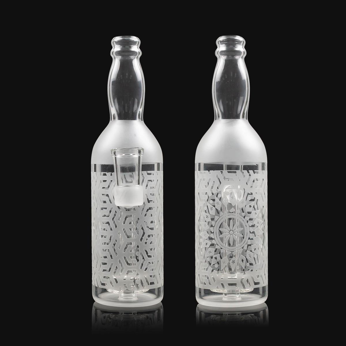 Más nuevo 7 pulgada de agua blanca burbujeador bong 14mm femenino femenino botella de vidrio BONG DAB Riga de vidrio Plataforma de aceite de bong con accesorios para fumar