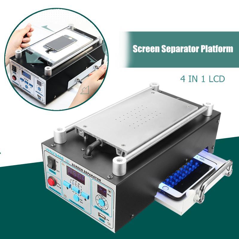 Doersupp 110 / 220v LCD de reparación de la máquina de vacío máquina laminadora pantalla táctil Separador Kit Para