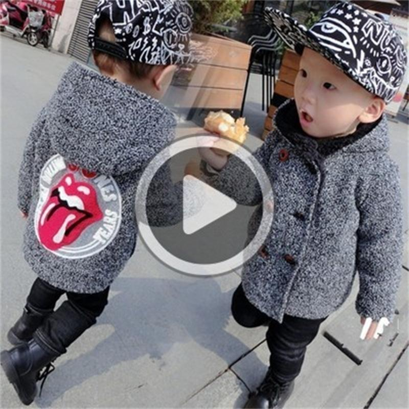 baby coat clothing kids clothes Infant Boys kids wear Children trency clothing boy windbreaker jacket girls Winter wool warmer Hoodies