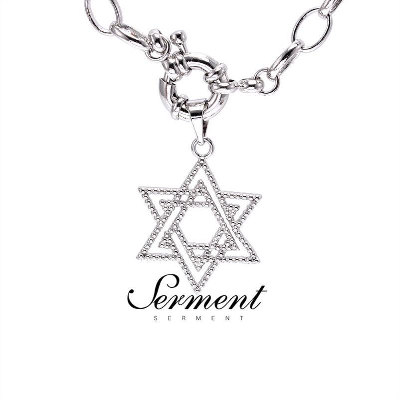 Pingente de colar de jóias femininas de serment Estrela Mulheres Único colares de ouro Cor Prata Acessórios para casamentos