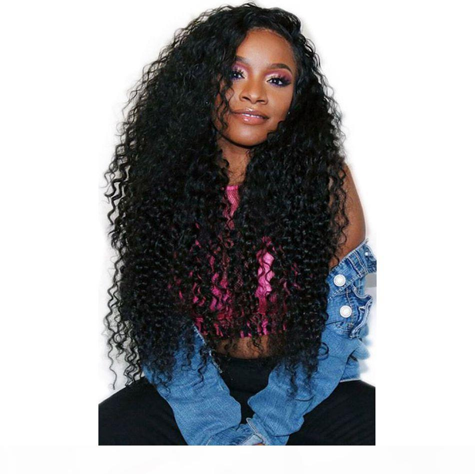 Cambodian Human Hair Full Lace Wigs Kinky Curly Lace Front Wig with Baby Hair Pre Plucked Virgin Hair Wig