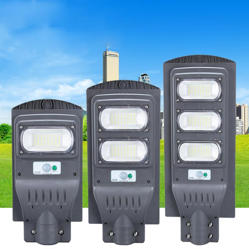 2020 NEW 160W LED 태양 빛 가로등 적외선 인체 감응 태양 벽 램프 보안 방수 정원 마당 램프
