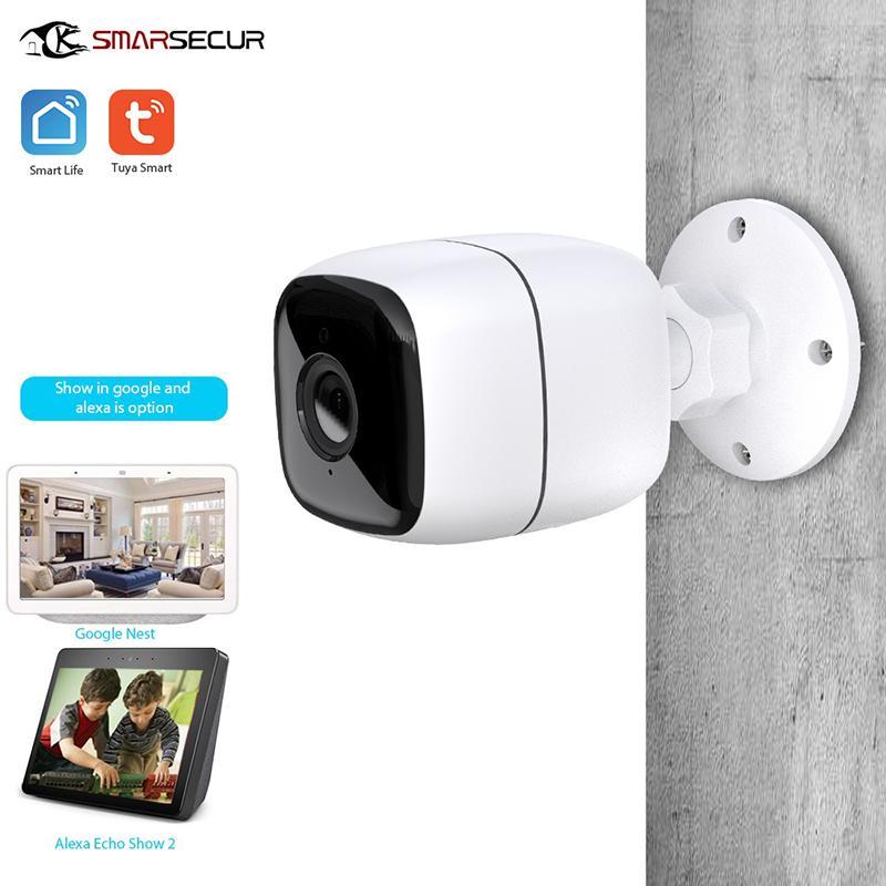 Tuya IP Kamera 1080P Ev Güvenlik Açık Gece Görüş Uzaktan Monitör Yağmur suyu WiFi Kablosuz Çalışma Akıllı Yaşam