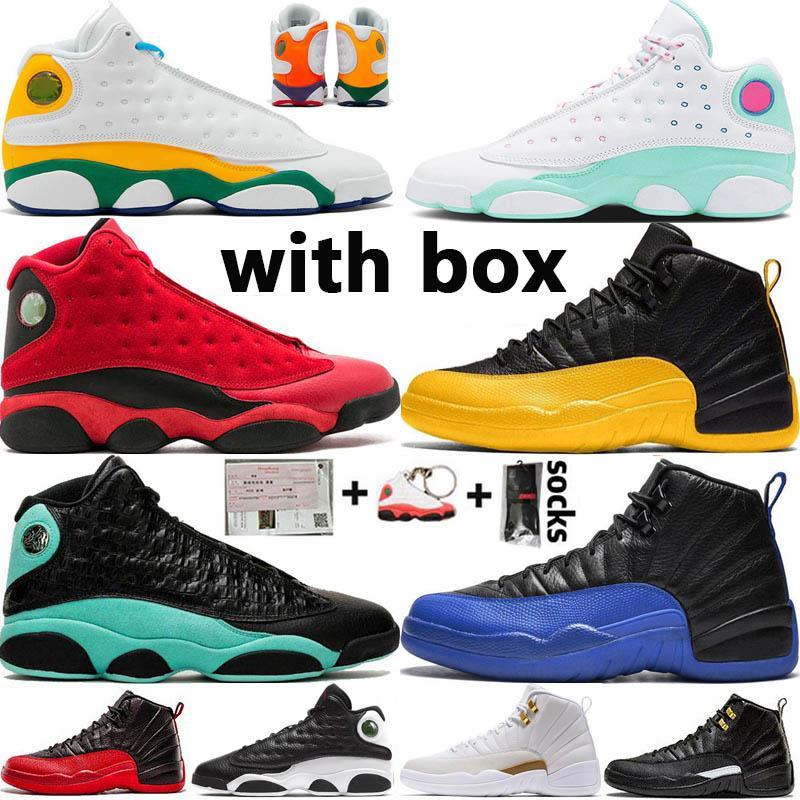 Nike Air Jordan 12 Retro Jumpman FIBA OVO هوت لكمة لعبة الملكي 12 12S أحذية الرجال لكرة السلة CNY القطة السوداء 13 13S شيكاغو ولدت مصمم تاكسي DMP رجال الرياضة رياضة