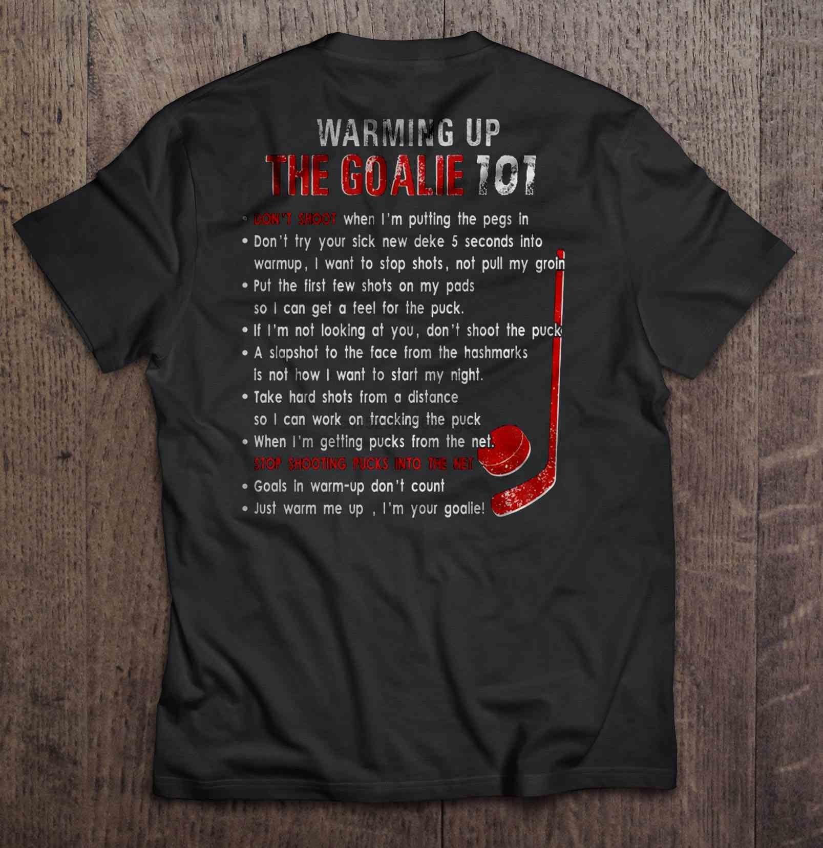 T shirt Uomo riscaldamento del portiere 101 Hockey Versione donne t-shirt