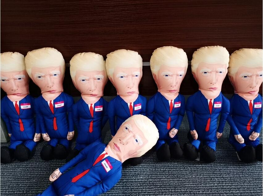 Donald Trump Parody Dog Chew Toy with Squeaker Durable Quality with Plush Accents Fun Entertaining Novelty Gift SEA SHIPPING CCA12554