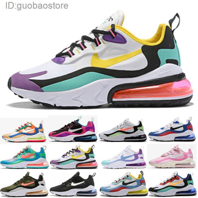 Nike Air Max 270 V2 React 270 hombres reaccionan eng zapatos corrientes triples bauhuas blanco y negro hombre al aire libre para mujer ópticos corredores entrenadores