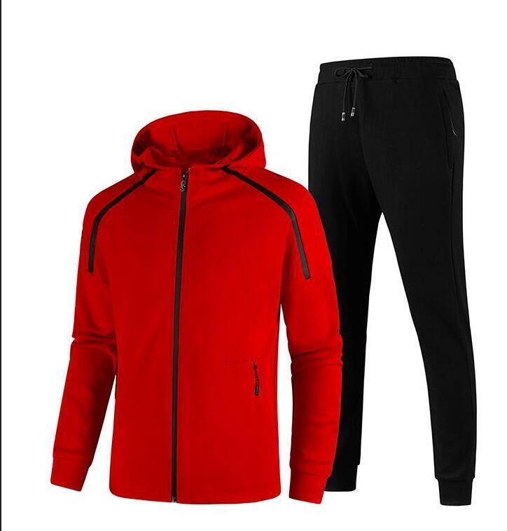 20FW Motif Broderie Printemps Survêtements Hommes Costumes Mode Sportwear piste Hoodie Zipper Sweatpants cheville Longueur vêtements d'extérieur L-5XL