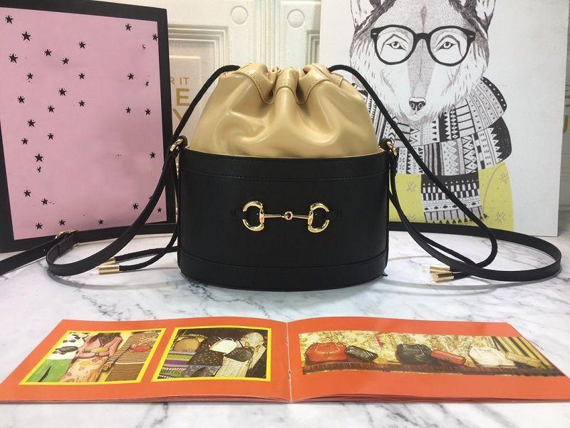 Сумка Horsebit Bucket Bag Оптовая винтаж Диапазон Horsebit Размер Женские Сумки 25 * 22 см Сумки 1955 Сумка Мода 1955 Ведро САДДА ЕБАМУ