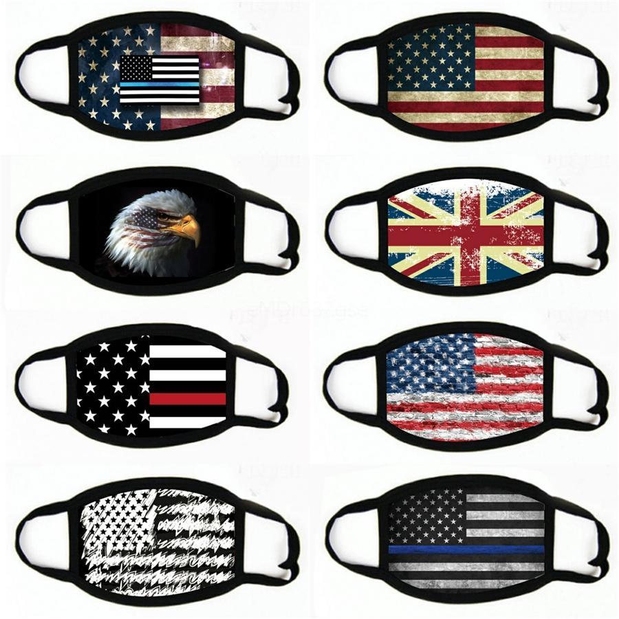 Parti Masques Fournitures Élection américaine Anti-poussière Imprimer Masque universel pour les hommes et les femmes d'Amérique du drapeau Masque # 234