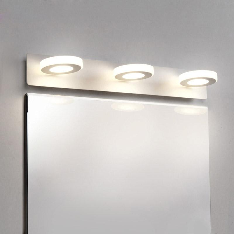 Modern Led Mirror Light Bathroom Lamp Bed Kitchen Wall Lamp Decor Home Lighting Fixtures White Metal Acrylic Sconce 110-220V