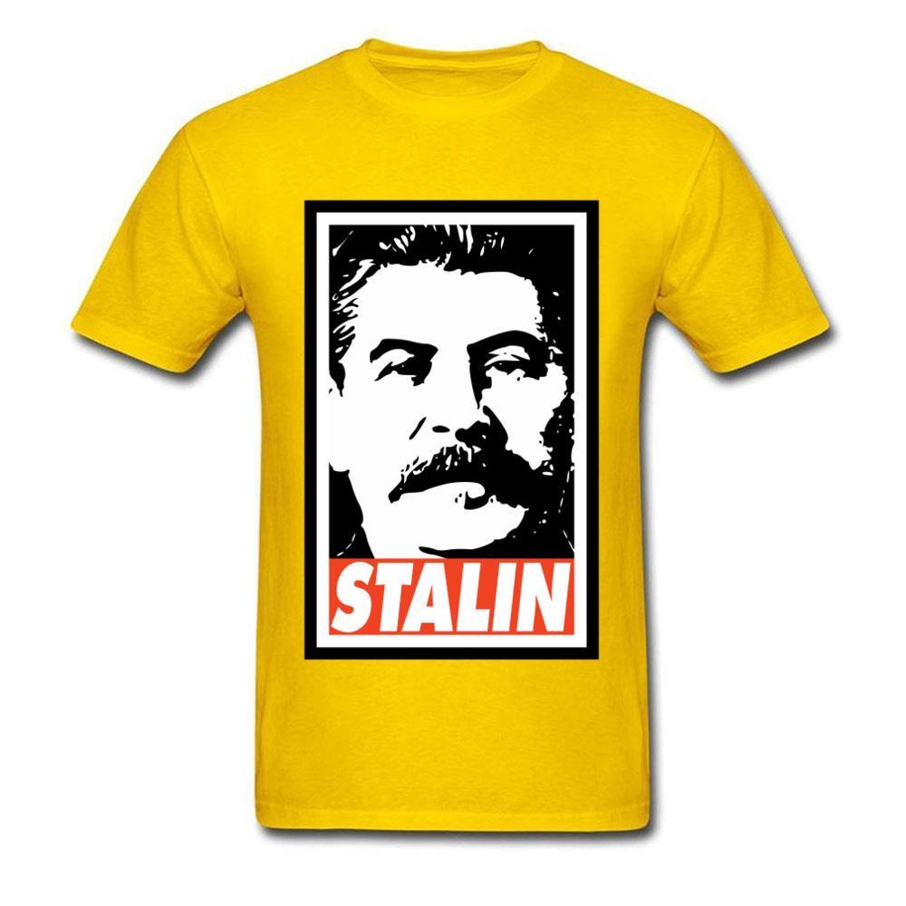 Hipster Amarillo Camiseta para los hombres camarada camisetas URSS Stalin camisetas Swag de la aptitud del verano Tops Ropa de Hip Hop masculino camiseta más nueva