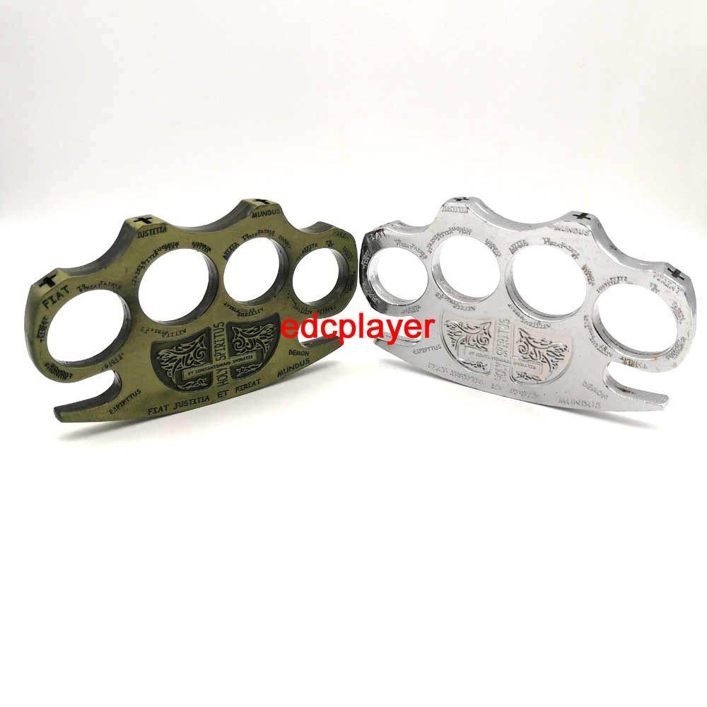 EDC alloy DETECTIVE CONSTANTINE BRASS KNUCKLE DUSTERS GOLD Powerful damage safety equipment self-defense Survival outdoor tool