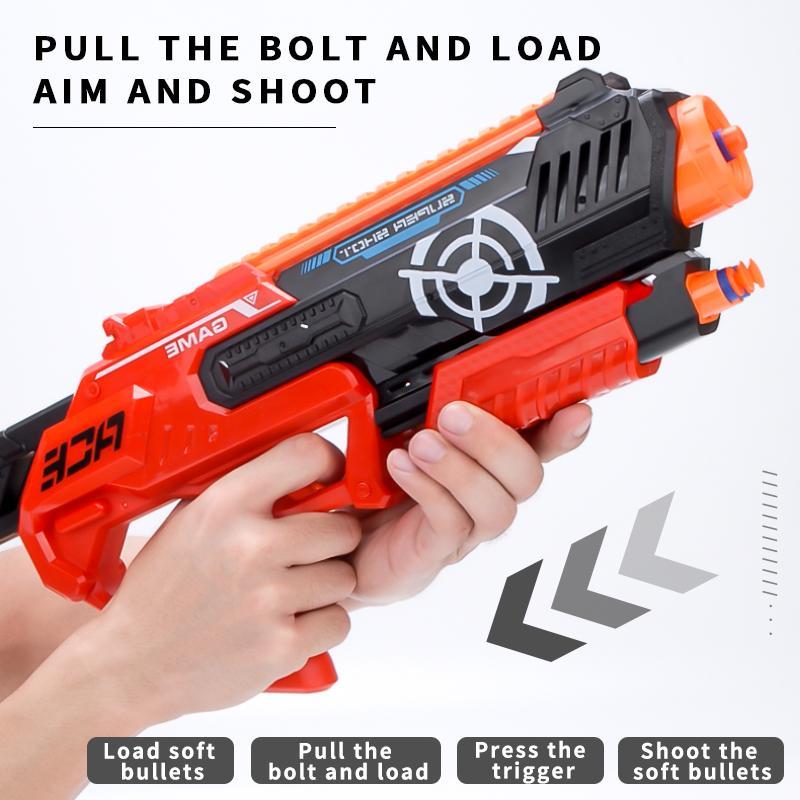 TW2007132 jouet pistolet EVA balle molle Deux styles de balles de balle molle jeu de tir d'armes à feu doux eva lumière