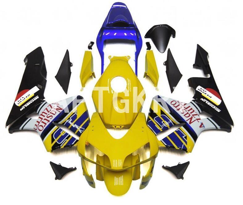 New ABS motocicleta carenagens kit apto para Honda CBR600RR F5 2003 2004 CBR 600RR 03 04 Bicicleta carenagem amarelo feito sob encomenda