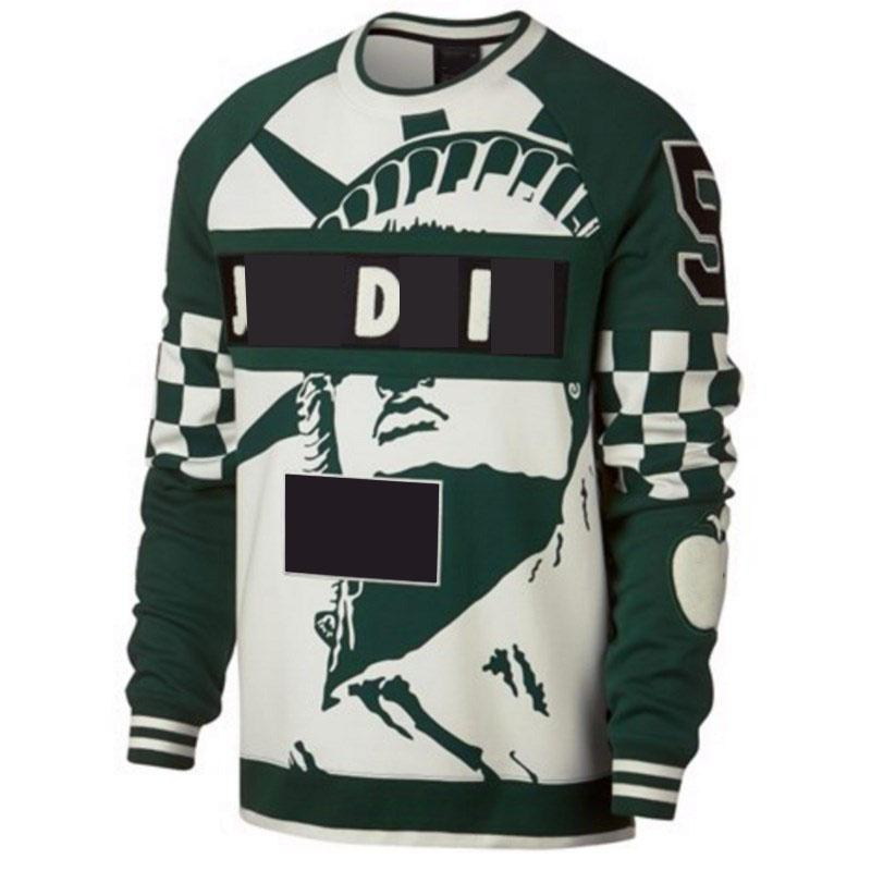 Männer Frauen Hoodies mit Freiheitsstatue Druck Hohe Qualität Herbst Winter Oansatz Sweatshirt Mode Streetwear mit Multi-Color Print S-3XL
