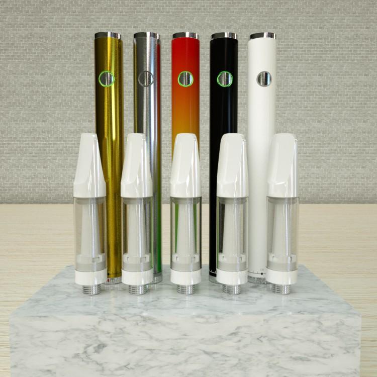 510 thread vape pen cartridge 0.5ml glass ceramic coil cartridge custom packaging box online shopping USA