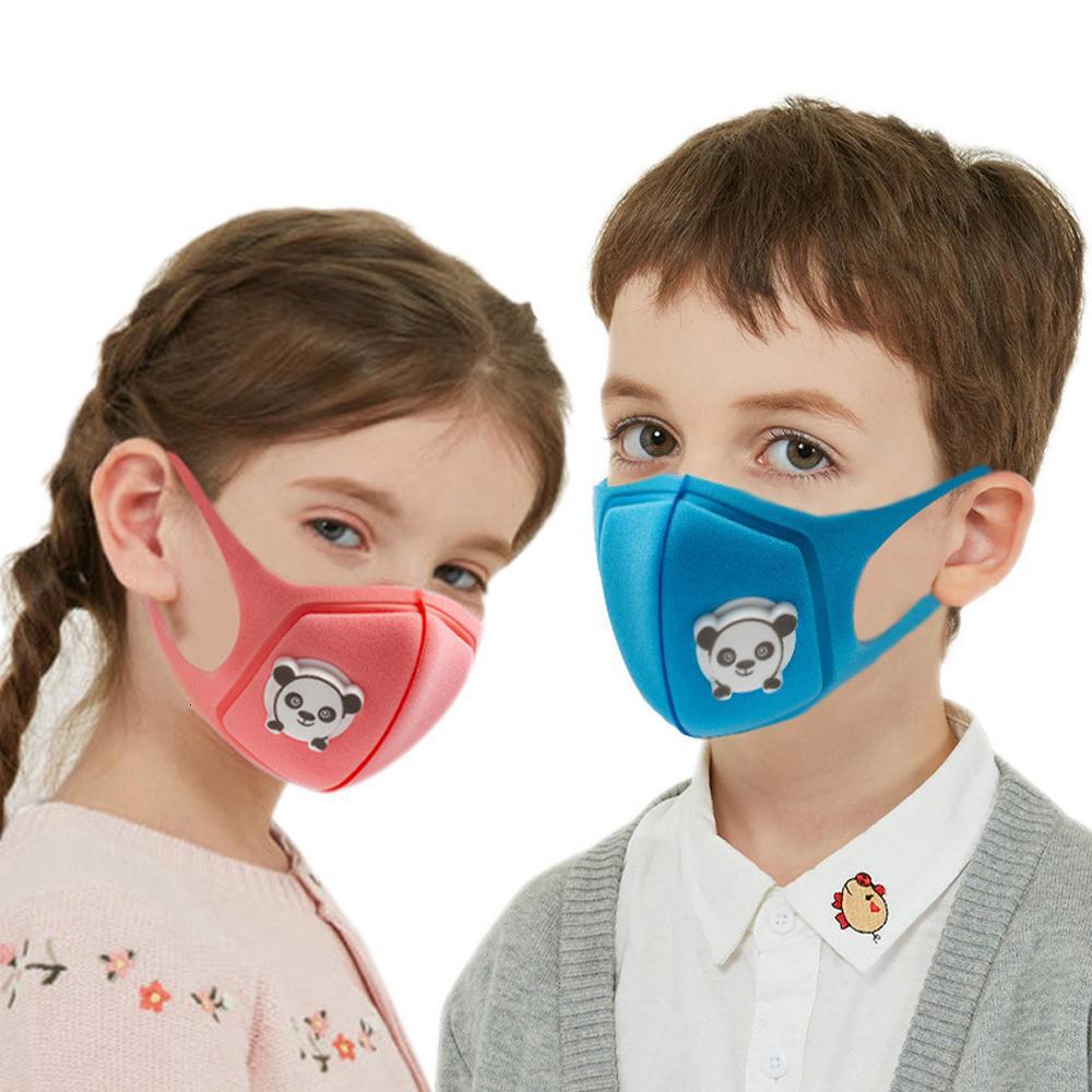 Unisex Schwamm Staubdichtes PM2.5 Umweltverschmutzung Halb Kinder Mund mit Atemventil Waschbar wiederverwendbare Gesichtsmaske Fwc952