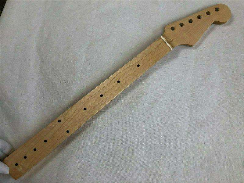 Fretless 22 Frets Electric Guitar Neck Maple Dot Board Dot Inlay Gloss