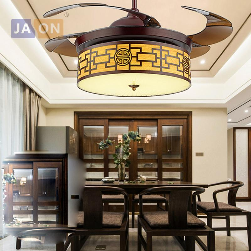 LED Chinese Iron Acryl ABS Remote Control Ceiling Fan.LED Lamp.LED Light.Ceiling Lights.LED Ceiling Light.For Foyer
