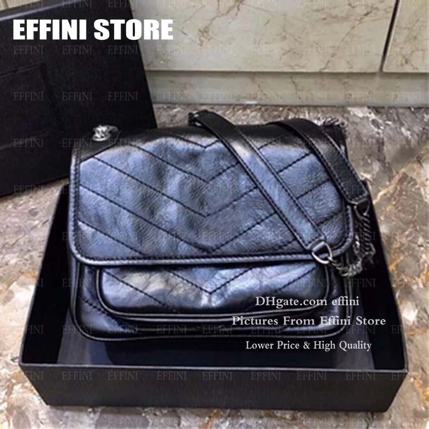 Luxurys Designers Sacs Niki Femme Sacs à bandoulière Sacs à main Pourse Effini 2020 Hot Solds Fashion Véritable Couverture en cuir Crottable sac