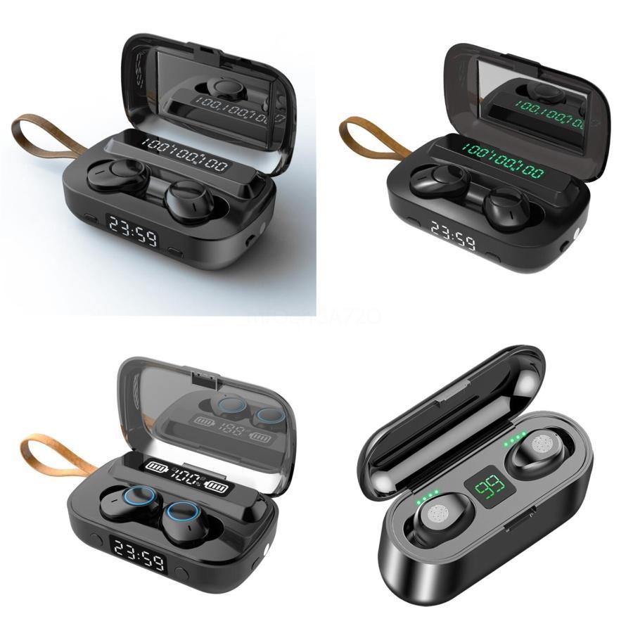 Q33 Bluetooth 5.0 Kulaklık Cep Telefonu Kulaklık Güç Bankası Mini Kablosuz Kulaklık Stereo Spor Şarjlı EDR Eller serbest Oyun Mic Kulak # 640