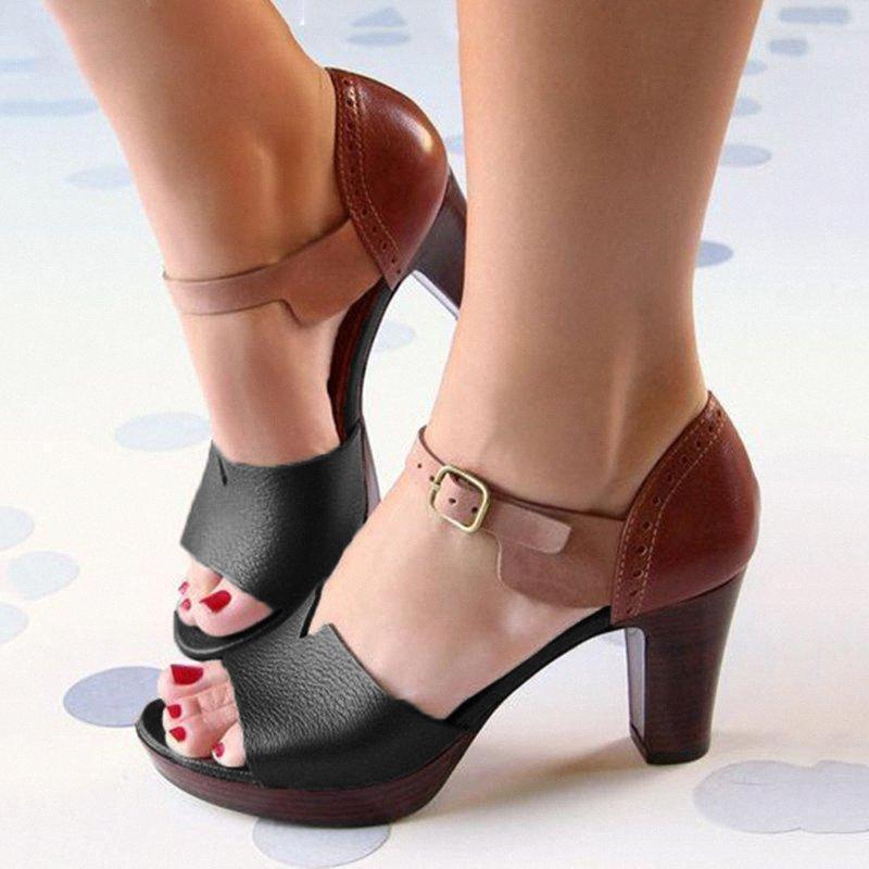 Mulheres Sandálias Salto Alto Mulher Verão Bombas Fino Salto Partido Shoes Pointed Toe Escritório Ladie Sapato elegante Plus Size # g4 1Cvj #