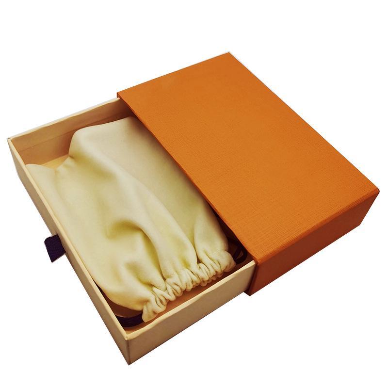Оранжевые Подарочные ящики Ящики Drawstring Ткань Сумки Дисплей Розничная Упаковка Для Модных Ювелирных Изделий Ожерелье Браслет Серьги Брелок Подвесное кольцо