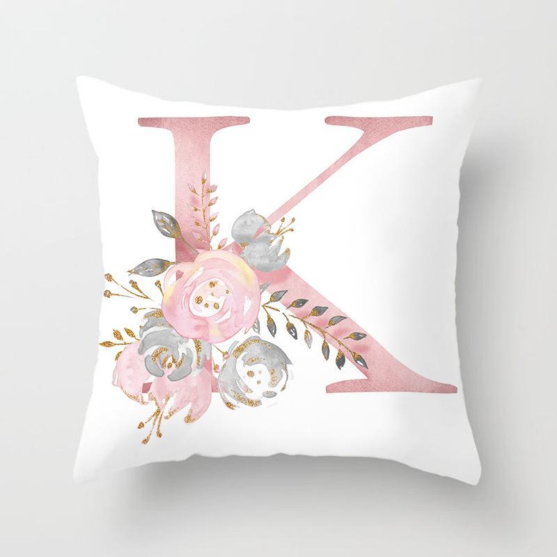 Kissen Raumdekoration Brief Kissen Englisch Brief Polyester Sofakissen Hauptdekoration Blume Kissen Familie Wesentliche