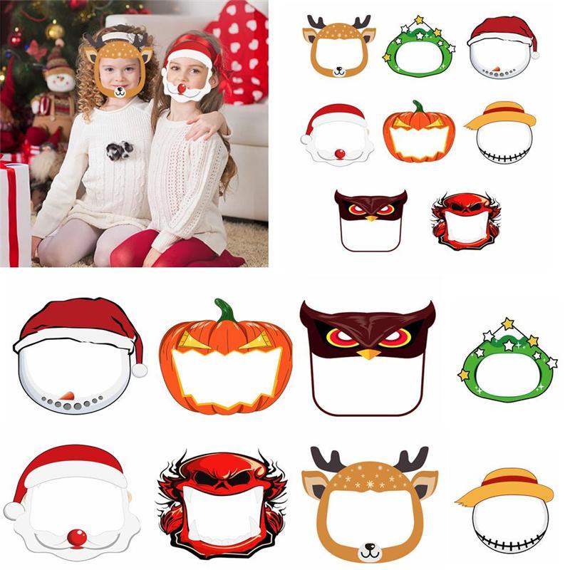 Navidad Halloween de la cara del escudo anti-niebla Máscara de aislamiento de la cara llena máscara protectora transparente Splash protección de las gotitas cubierta para OOA9058