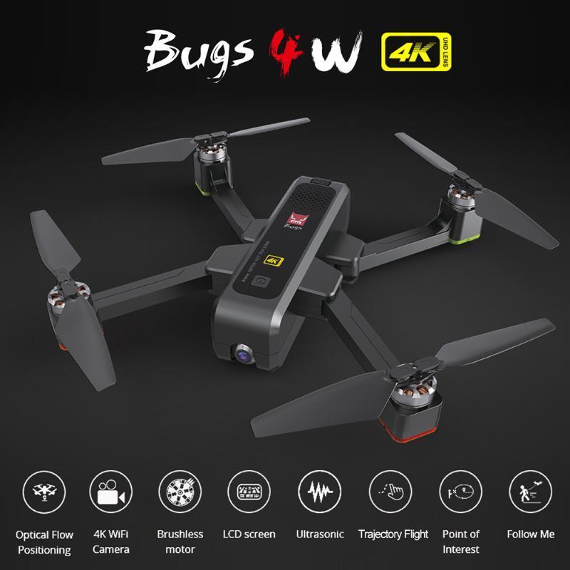 MJX Bugs 4W B4W Drone с камеры 4K 5G WIFI GPS FPV 20mins Время оптического потока Positioning RC Quadcopter Дрон игрушек VS MJX B5W Машина для изготовления