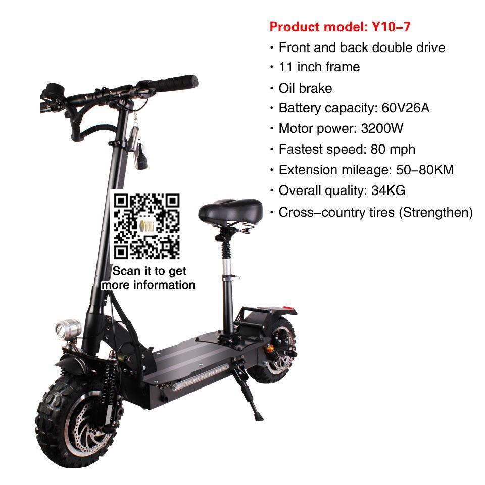 Электрический самокат 60V 26A аккумулятор велосипед 3200W Moter велосипед электрический велосипед для продажи 50-80km Складная Электрический велосипед