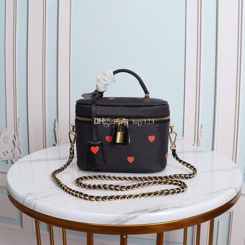 مصغرة حقائب النساء لطيف أكياس أزياء الكتف عالية الجودة أكياس امرأة الأبيض حقائب سوداء حجم 14 * 19 * 10CM نموذج 42264