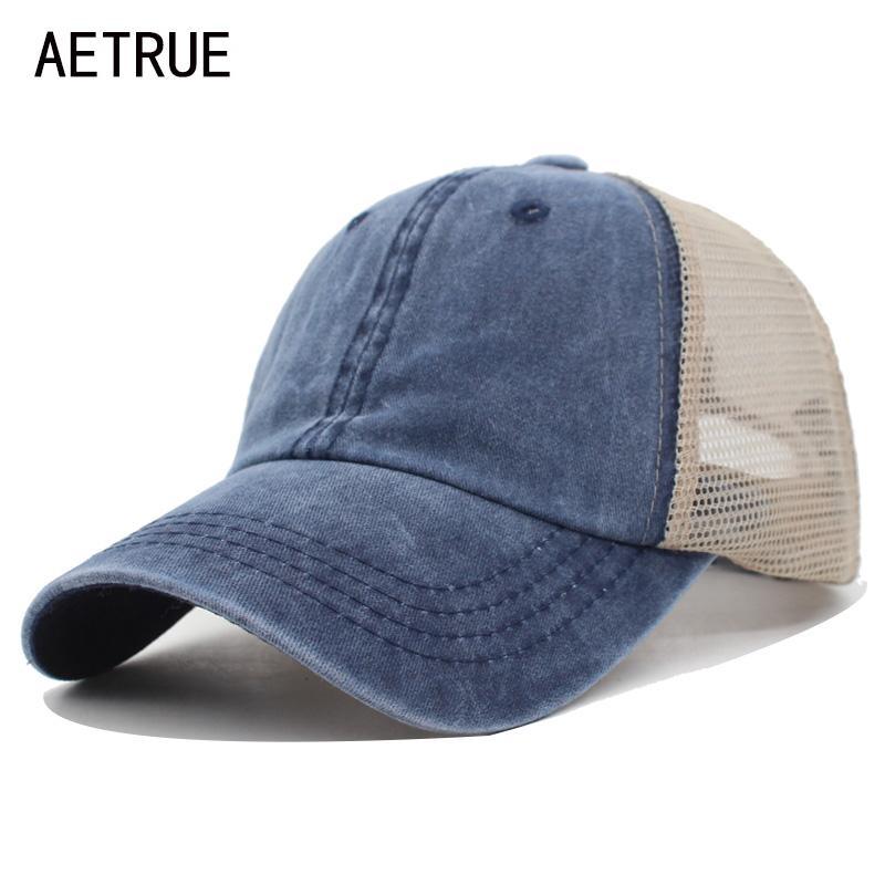 Berretti a sfera Aeetrue Estate Baseball Cappellino Donne maschile Gorras Snapback Hat Hip Hop Maglia Regolabile Bone Casquette Casquette Cappelli per uomo DAD