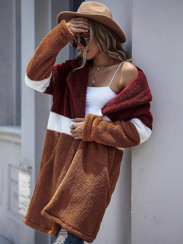 Womens Inverno Cappotti sportivi Cappotti spessi Design caldo Capispalla di moda Maglioni di lana Leopardo Faux Fluffy Pelliccia Teddy Fleece Casual Giacca lunga peluche