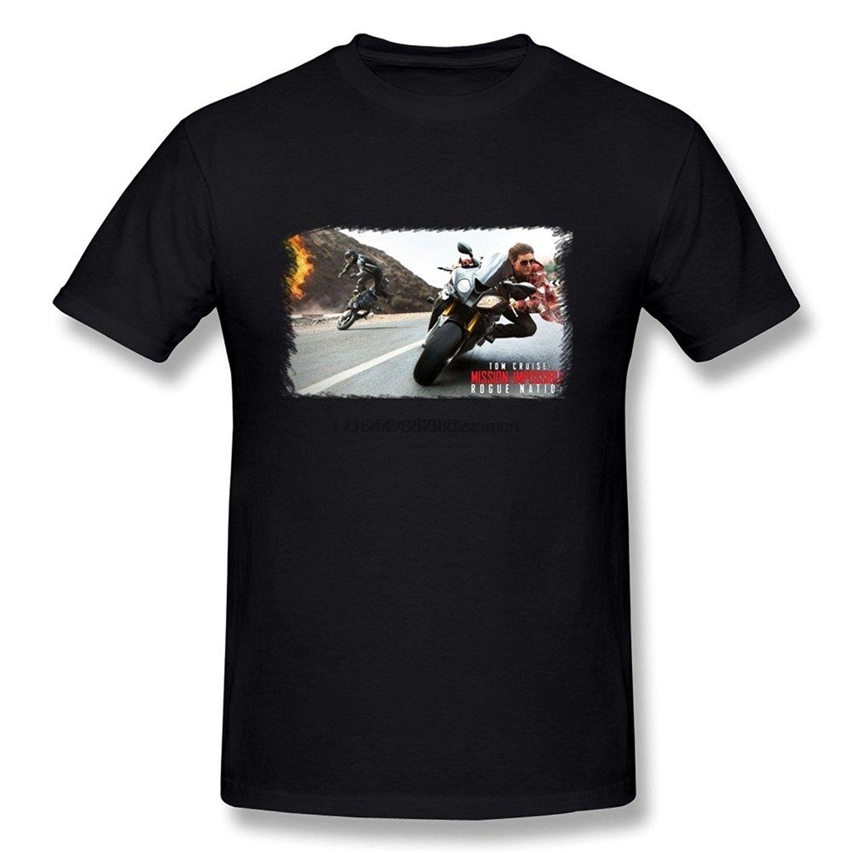 Moda Hombres Julimount Misión Imposible 5 Tom Cruise Rogue Nation camiseta simples de manga corta camiseta de algodón primer golpe