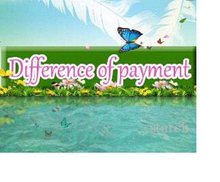 diferença de pagamento de frete