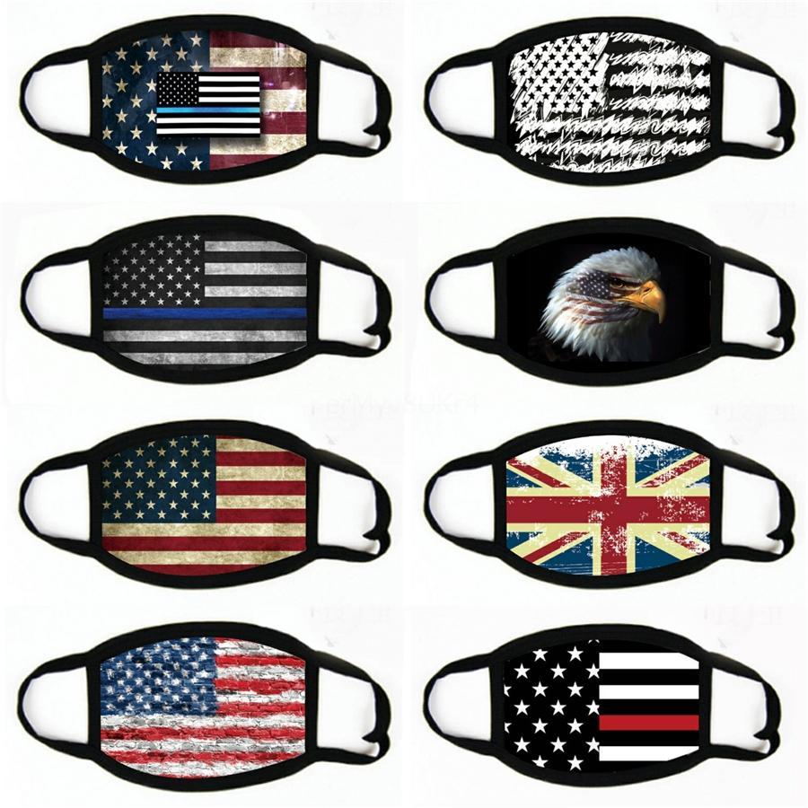 Özelleştirilmiş Unisex Sorunsuz Hip Hop Amerikan Bayrağı bandanas Binme bandanas scarve # 606 Balıkçılık Magic Başörtüsü Yüz Shield Açık Bisiklet Maske