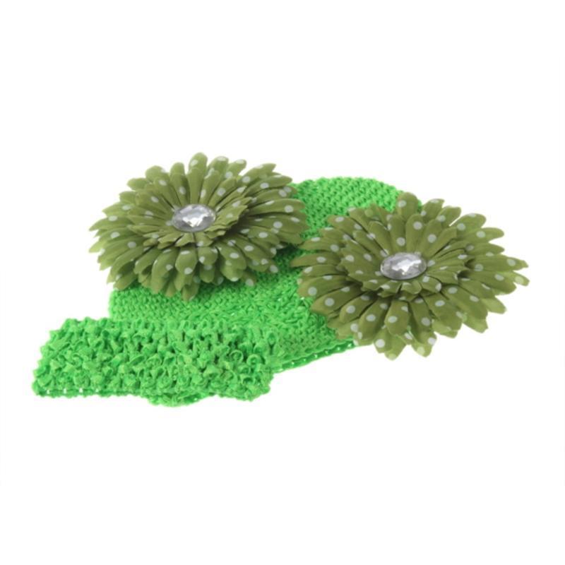 Damas verdes Moda flor decoración sombrero turbante sombrero alba mujer invierno caliente caliente