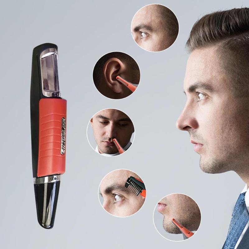 peli del naso uomini multi-funzione a due teste rasoio rimozione Trimmer elettrico Macchina di taglio di capelli con 4 Combs LED regolatore del rasoio