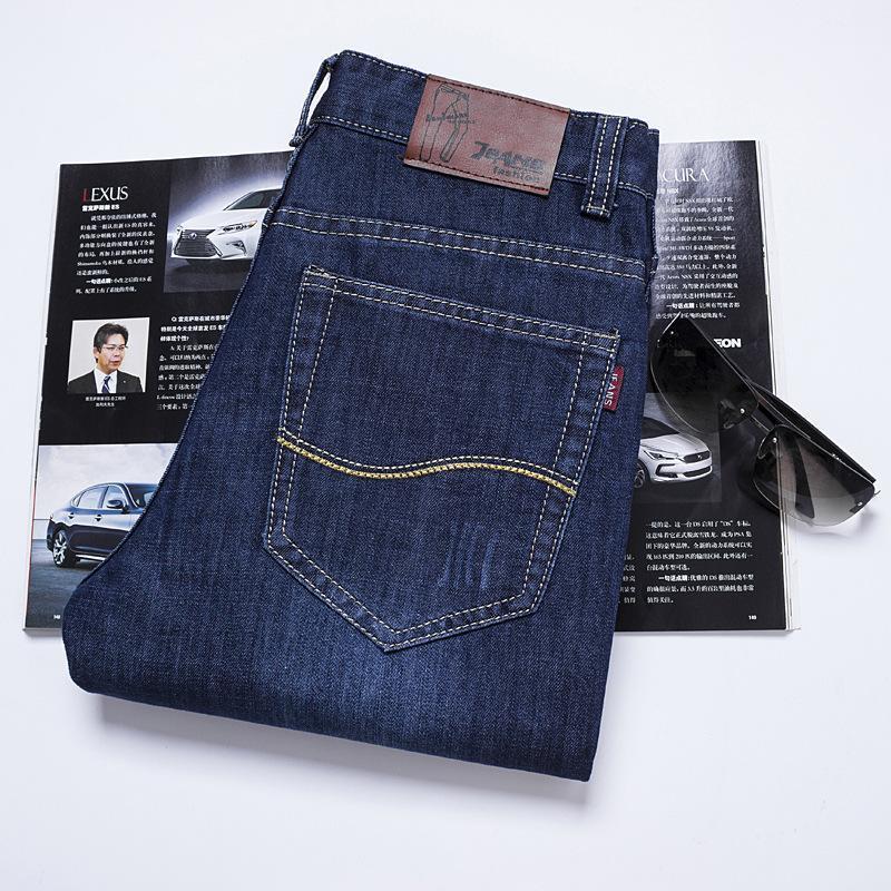 2020 Hombres estiramiento del motorista Jeans Primavera Hip Hop rasgado flojos pantalones vaqueros rectos de los hombres ocasionales de los pantalones más el tamaño mediados de cintura