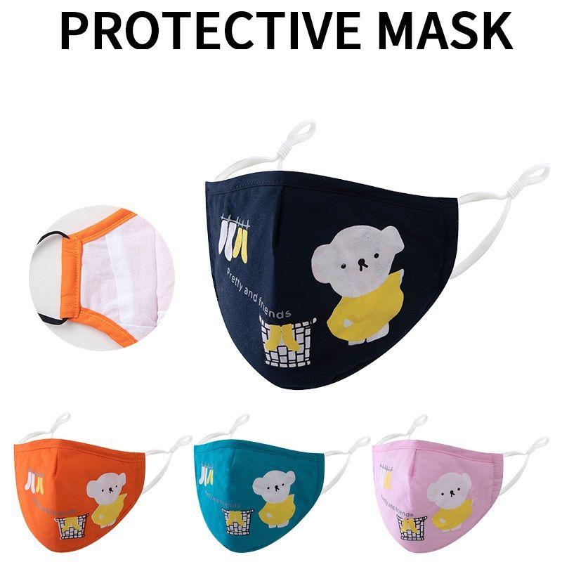 Fashion Cotton quality Kids Designer Face Mask children Cartoon Face Masks PM2.5 Dustproof Protective Reusable Mask