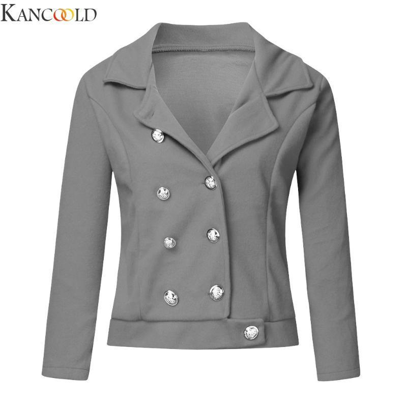 KANCOOLD Winter Clothes Short Wool Coat Women Coat Korean Autumn Woolen Fashion Double-breasted Jacket Elegant Blend
