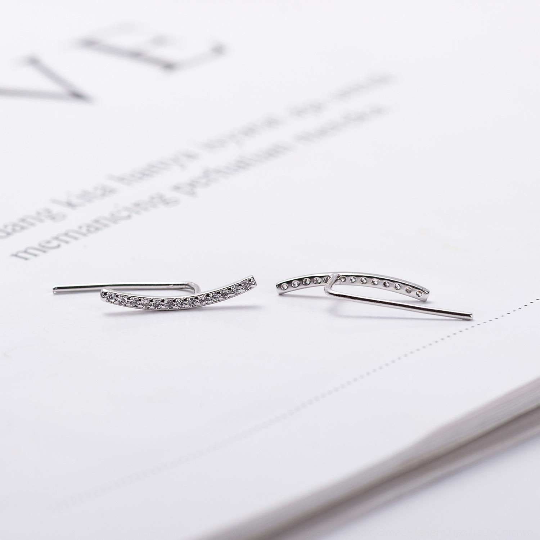 gioielli di Natale fatto a mano con diamanti semplice lunghe diamante orecchini orecchini fatti a mano in argento delle donne nYsv5